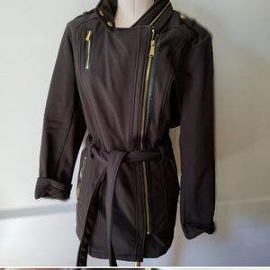 Michael Kors black warm trench coat size XL